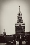 Moscow Kremlin. Spasskaya Tower, clock. Stock Image