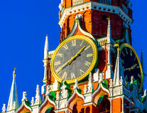 Moscow Kremlin Spasskaya tower Royalty Free Stock Photos