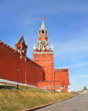Moscow Kremlin. Spasskaya tower Stock Photo