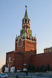 Moscow Kremlin. Spasskaya Tower Royalty Free Stock Photo