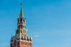 Moscow Kremlin Spasskaya Tower Stock Images