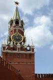 The Moscow Kremlin. Spasskaya Tower Stock Photography