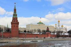 Moscow Kremlin in the spring stock photo