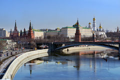 Moscow Kremlin in springtime Royalty Free Stock Photos