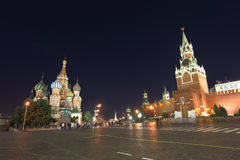 Moscow Kremlin and St. Basil cathedral Royalty Free Stock Photography