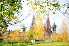 The kremlin. The Moscow Kremlin and St. Basil`s Cathedral Stock Image