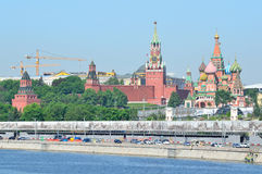Moscow, the Kremlin and St. Basil's Cathedral Stock Photography