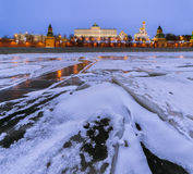 moscow kremlin Storslagen Kremlslott i vinter Royaltyfri Foto