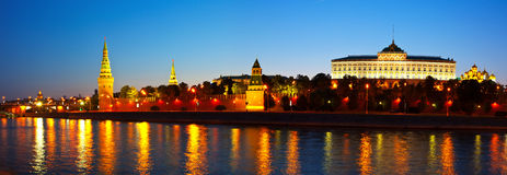 Moscow Kremlin in summer night Stock Image