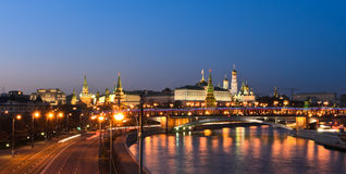 Moscow Kremlin in summer night Stock Photography