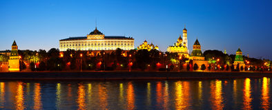 Moscow Kremlin in summer night. Russia Stock Photography