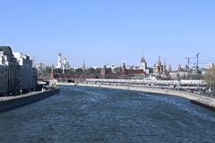 Moscow Kremlin on a sunny spring day Stock Photography