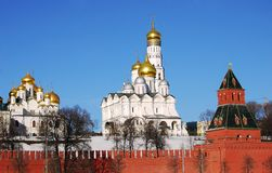 Moscow Kremlin in a sunny winter day. Stock Photography