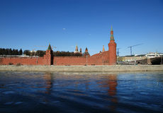 Moscow Kremlin on a sunny winter day, Russia Stock Photography