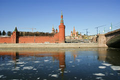 Moscow Kremlin on a sunny winter day, Russia Stock Images