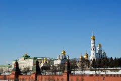 Moscow Kremlin on a sunny winter day, Russia Stock Image
