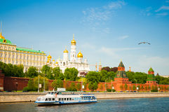 Moscow Kremlin at sunset Stock Photos