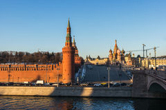 Moscow kremlin at sunset Stock Images