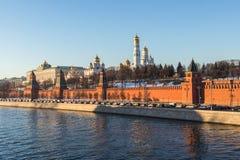 Moscow kremlin at sunset Royalty Free Stock Image