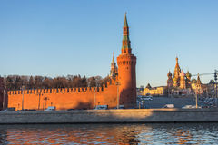 Moscow kremlin at sunset. Russia Stock Image
