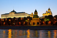 Moscow Kremlin  in sunset. Russia Royalty Free Stock Photography