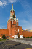 Moscow Kremlin tower. Central tower of Kremlin in Moscow city, Russian Federation Royalty Free Stock Photography
