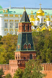 Moscow, Kremlin tower and Annunciation cathedral Royalty Free Stock Images