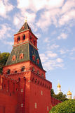 Moscow Kremlin tower. Blue sky background. Stock Images