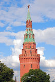 Moscow Kremlin tower. Blue sky background. Royalty Free Stock Photos