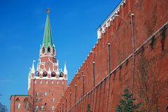 Moscow Kremlin tower. Color photo. Stock Photo