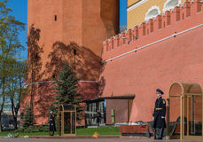 Moscow Kremlin. Tower, Red Square, blue sky, city, street Royalty Free Stock Photography
