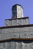 Moscow Kremlin tower under renovation. Blue sky background. Royalty Free Stock Photography