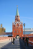 Moscow Kremlin tower. UNESCO World Heritage Site. Royalty Free Stock Photos