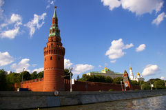 The Moscow Kremlin Towers. Moscow Kremlin towers. View from the river Stock Image