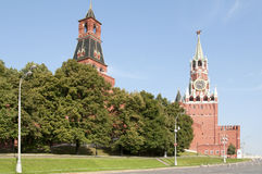 Moscow Kremlin Towers Stock Image