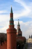 Moscow Kremlin towers. UNESCO World Heritage Site Royalty Free Stock Photography