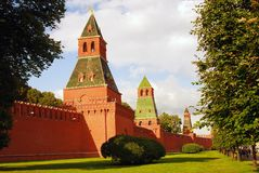Moscow Kremlin towers Stock Images
