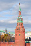 Moscow Kremlin towers with red ruby stars on top Royalty Free Stock Images