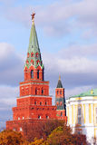 Moscow Kremlin towers with red ruby stars on top Royalty Free Stock Photos