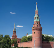 Moscow Kremlin towers in summer day Stock Images