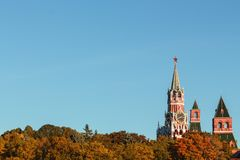 Moscow Kremlin Towers. On sunny summer day stock photography