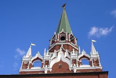 Moscow Kremlin. Trinity tower. Color photo. Stock Photo