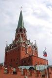 Moscow Kremlin, Trinity (Troitskaya) Tower. Moscow Kremlin inside, The Trinity (Troitskaya) Tower in a sunny day. UNESCO World Heritage Site Stock Photography
