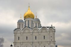 Moscow Kremlin. UNESCO World Heritage Site. Archangels cathedral. Moscow Kremlin, a popular touristic landmark.  Archangels church. UNESCO World Heritage Site Stock Photography