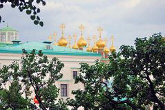 Moscow Kremlin. UNESCO World Heritage Site. Spring foliage. Stock Photography