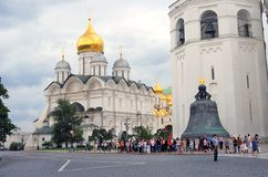 Moscow Kremlin. UNESCO World Heritage Site. View of the Moscow Kremlin, a popular touristic landmark. UNESCO World Heritage Site. There are Archangels church stock image