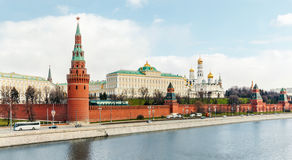 Moscow Kremlin. View from the bridge Stock Photos