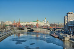 MOSCOW KREMLIN. View from the bridge Royalty Free Stock Images