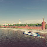 Moscow Kremlin, view from Moscow river Royalty Free Stock Images