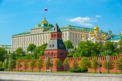 Moscow Kremlin. View of Moscow Kremlin and Kremlin Palace at bright sunny summer day Royalty Free Stock Image